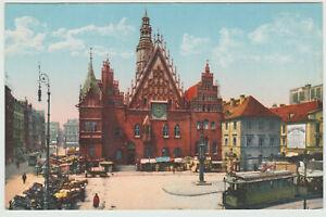 Wrocław, Breslau, Rathaus, Strassenbahn