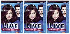 Schwarzkopf LIVE Intense 046 Cyber Purple Pro Permanent Hair Colour Dye x 3