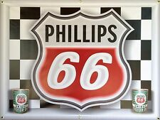 PHILLIPS 66 GAS STATION NEON EFFECT DIGITAL PRINTED BANNER SIGN MURAL ART 4 X 3