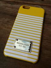 Michael Kors iPhone Phone Case Striped Yellow White Smartphone Cover