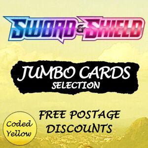 Pokémon Sword and Shield TCG | JUMBO CARDS Selection | Near Mint - Discounts
