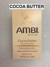 AMBI SKINCARE COCOA BUTTER CLEANSING BAR HELPS MOISTURIZE SKIN 3.5 OZ