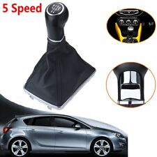 FOR VAUXHALL OPEL ASTRA H Gear Shift Knob 5 Speed Leather Chrome Finishing 05-10