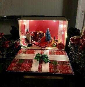 Christmas Santa Book Wonderland. Christmas Light up decoration