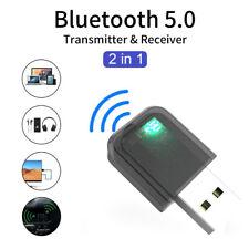 2 in1 3.5mm USB Audio Adapter Transmitter Receiver For TV PC Speaker Headphones