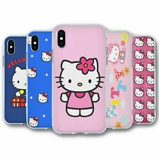 For iPhone X & XS Silicone Case Cover Hello Kitty Collection 1