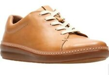 Clarks Ladies Amberlee Crest Oxford Tan Brown Leather Casual Comfort Shoe UK 6.5