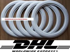 Firestone tire style 16'' White Wall Tyre Insert Trim Port-a-wall - Set of 5