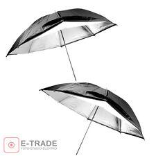 "2pcs / Photo Umbrella -- white / SILVER + BLACK SHELL / Universal 32"" / 83cm"