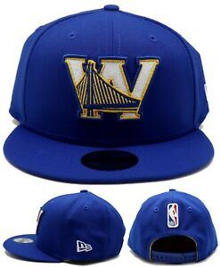 Golden State Warriors St New Era 9Fifty Youth Kids Blue W Gold Snapback Hat Cap