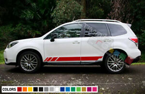Sticker Decal Side Offroad Stripes for Subaru Forester 2012-2016 Headlight Door