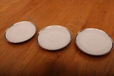 "3 Aristo Craft Fine China Royal Platinum Saucers Made In Japan 6"""