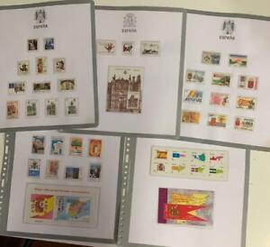 SPAIN 1954-2010 Collection on Bolaffi hingeless leaves MNH  / N7917