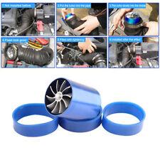Blue Single Fan Turbonator Turbo Supercharger Tornado Air Intake Gas Fuel Saver