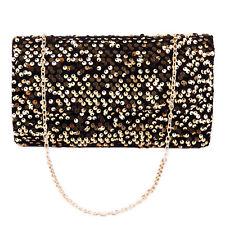 Womens Evening Bag Glitter Sequin Handbag Shoulder Cross Body Chain Tote Girls