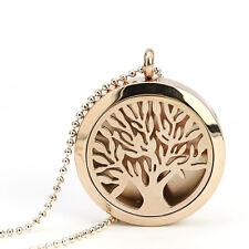 Tree Of Life  Locket Pendant Aromatherapy  Magic Perfume Chain Necklace Jewelry