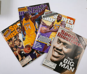 Shaquille O'Neal Los Angeles Lakers 4 Sports Illustrated Full Magazines 1999-02