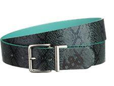 686 Women Lynx Reversible Belt (L/XL) Peacock Python