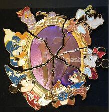 Disney COMPLETE 6 Pin Set CRACKED MIRROR HERO PUZZLE Jumbo 13 Reflection of Evil