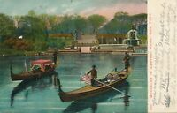 NEW YORK CITY – Central Park Gondolas on Lake – udb – 1907