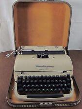 Vintage Remington Quiet-Riter Miracle Tab Portable Typewriter & Case Works