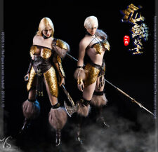 Vstoys 1/6 Dragon Female Warrior armor Clothes set A+B w/ weapon for Phicen Body