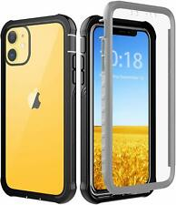 iPhone 11 Case Heavy Duty Full Body Rugged Cover With Built In Screen Protector