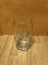 """Coca Cola Can Shaped Glass Clear 5"""" Tall"""