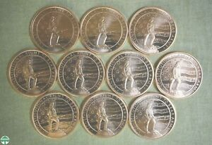 SET OF 10 - CONSTITUTIONAL RIGHT TO BEAR ARMS 1 OZ COPPER ROUNDS- FINENESS: .999