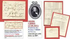 Lettre 1828 Famille de Parfumeurs: Antoine CHIRIS à Grasse Maison fondée en 1768
