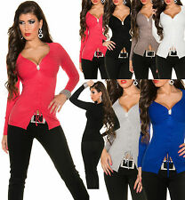 Sexy Women Pullover Ladies Jumper Top Blouse Size 6 8 10 12 Shirt Lacing Sweater