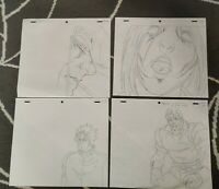 SET10 Jojo's Bizarre Adventure Anime Genga Set x4 or Cel Animation Art JOJO OVA