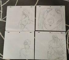 SET10 Jojo's Bizarre Adventure Anime Genga Set x4 or Cel Animation Art JOJO OVA
