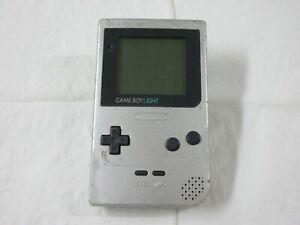 D411 Nintendo Gameboy Light console Silver Japan GB x