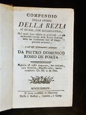 COMPENDIO DELLA STORIA DELLA REZIA SIA CIVILE CHE ECLESIASTICA ...