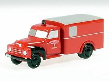 """Schuco Piccolo Hanomag L 28 Kasten """"Feuerwehr Augsburg"""" # 50170300"""