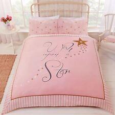 Wish Upon a étoile Set Housse de couette simple rose étoiles d'OR parure Filles