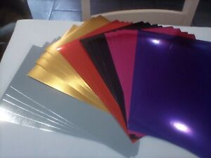 mirri card A4 mixed colours 4 of each and 5 silver