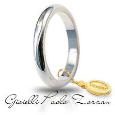 FEDE Matrimoniale ANELLO Nuziale UNOAERRE Francesina 4 gr. oro Bianco 18 kt