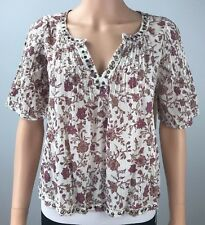 Denim Supply Ralph Lauren Bell-Sleeved Floral Print Peasant Blouse NWT XSmall