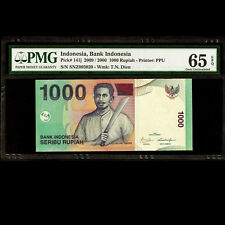 Bank Indonesia 1000 Seribu Rupiah 2009 PMG 65 EPQ GEM UNC P-141j