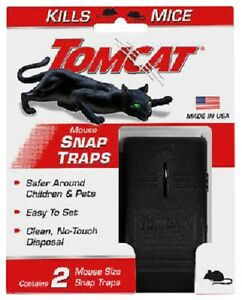 2 Piece Mouse Traps Mice Killer Tomcat Rat Snap Trap Reusable Pesticide-Free NEW