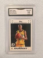 2007 Topps Kevin Durant White Rookie Card #2 Gma 10 Gem Mint Psa Resend Nets