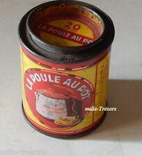 Ancienne boite LA POULE AU POT le consommé parfait en tôle - Format 20 unités
