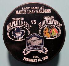 NHL1999 CHICAGO BLACKHAWKS vs TORONTO MAPLE LEAFS SOUVENIR PUCK VEGUM SL1 SLUG