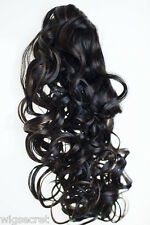 20 Inches Long Blonde Grey Red Wavy Clip-in-Extensions Hair Pieces Claw Clip