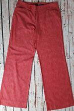 Women's DKNY Jeans Wide Leg Cotton Trousers Pink High Rise - Size W31 L33