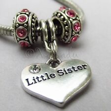 Little Sister European Charm Pendant N Birthstone Beads For Large Hole Bracelets