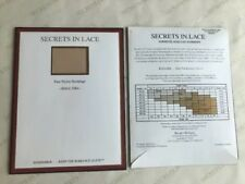 Secrets In Lace 9915E  Stocking Natural/Black Size Long Made In UK - NIP 2 Pair