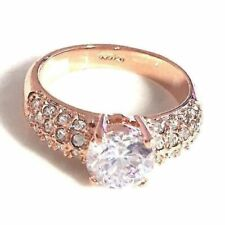 14k Yellow Gold 1.5ct Engagement CZ Ring